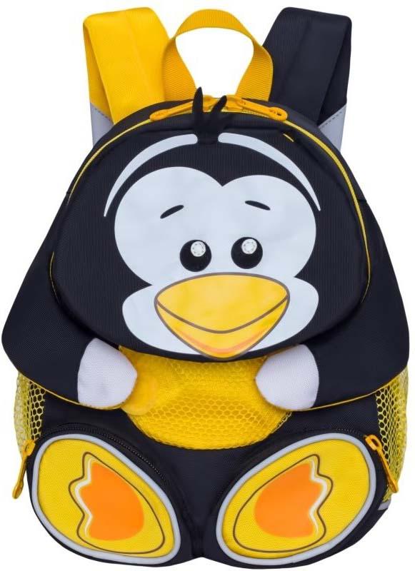 Grizzly Рюкзак детский Пингвин цвет черный RS-898-2/4