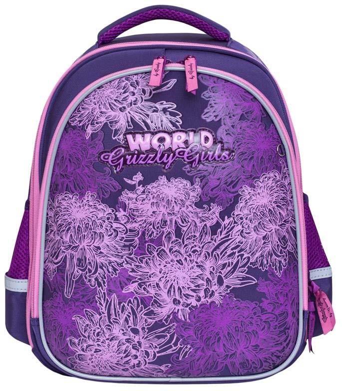 Grizzly Рюкзак школьный цвет фиолетовый RA-879-4/1 рюкзак grizzly ra 875 1 1 violet turquoise