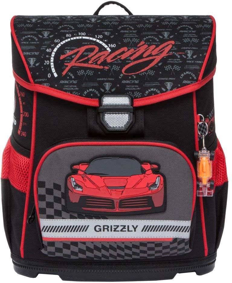 все цены на Grizzly Рюкзак школьный с мешком цвет черный красный RA-874-1/2 онлайн