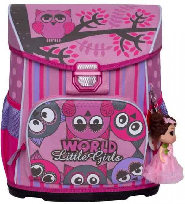 все цены на Grizzly Рюкзак школьный с мешком цвет розовый RA-875-2/2 онлайн