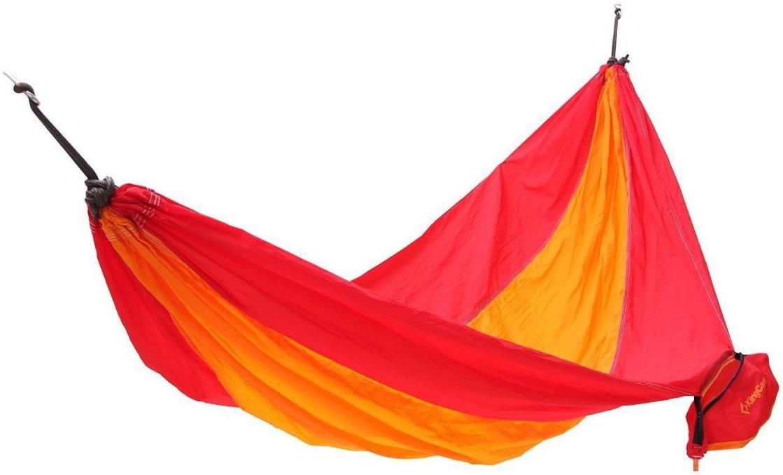 Гамак KingCamp Parachute Hammock, цвет: желтый, красный, 270 х 130 см гамак для ног эврика цвет оранжевый 62 х 17 х 2 см