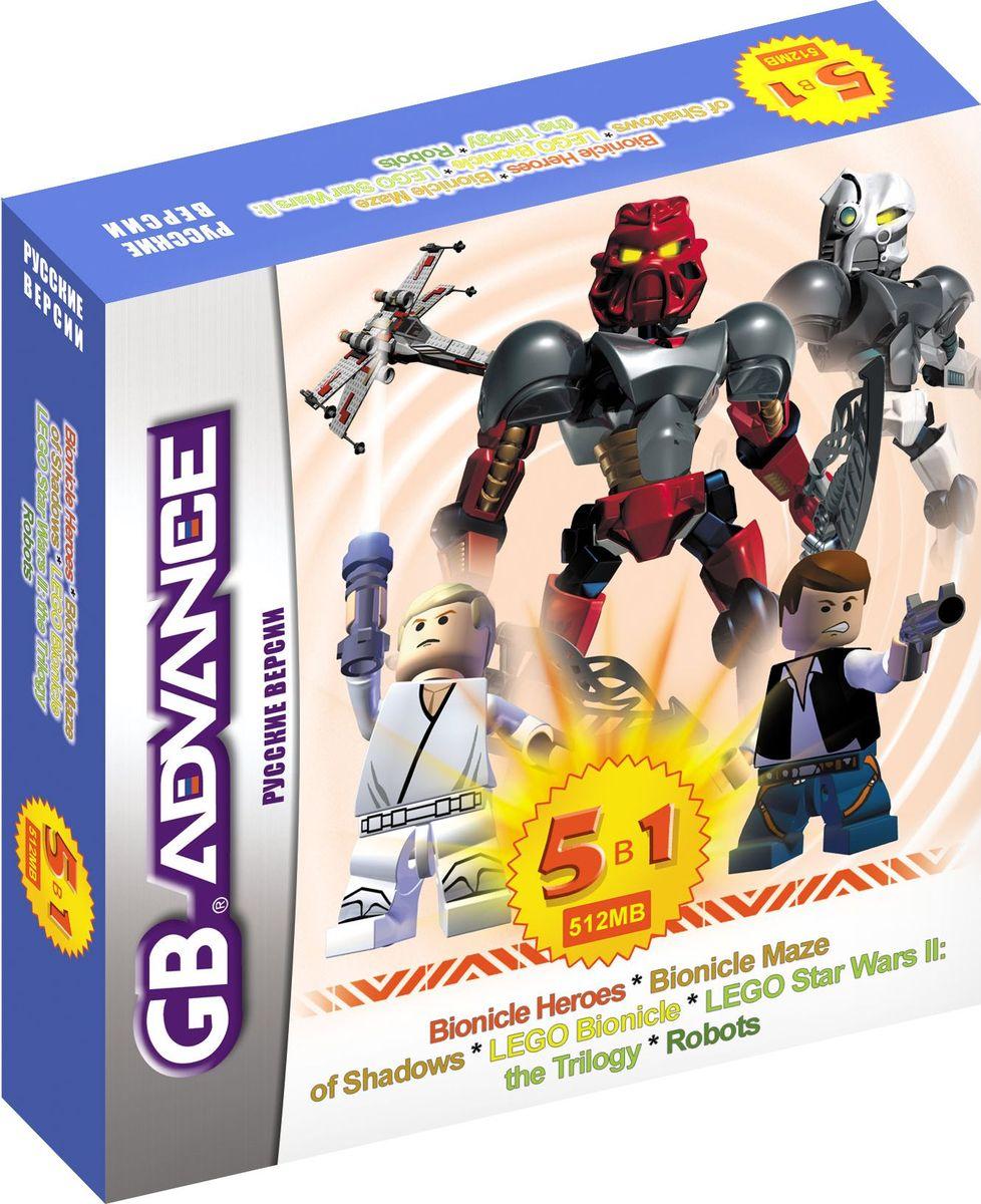 NewGame BS51001 5в1 игровой картридж для GBA игры для приставки gba