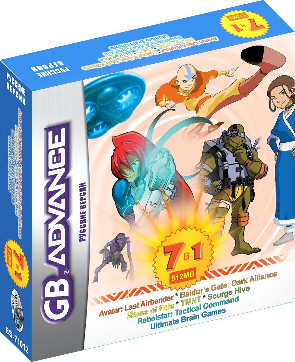 NewGame BS71012 7в1 игровой картридж для GBA игры для приставки gba