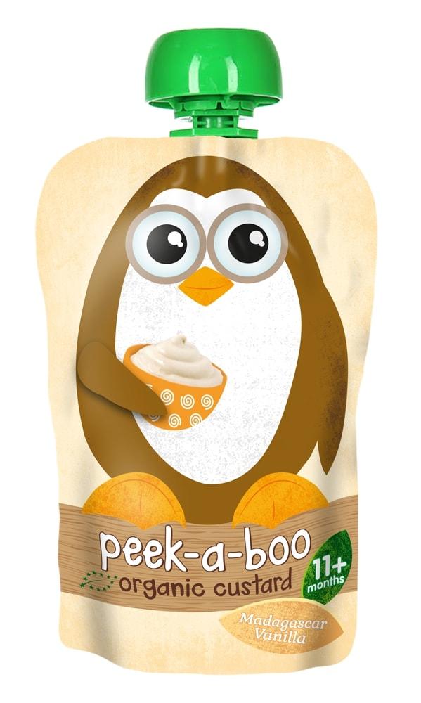 Peek-a-boo пудинг органический ванильный, с 11 месяцев, 100 г цены