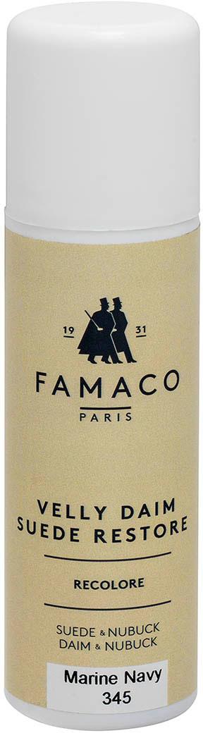Краска для замши и нубука, Famaco, синяя, 75 мл цена и фото