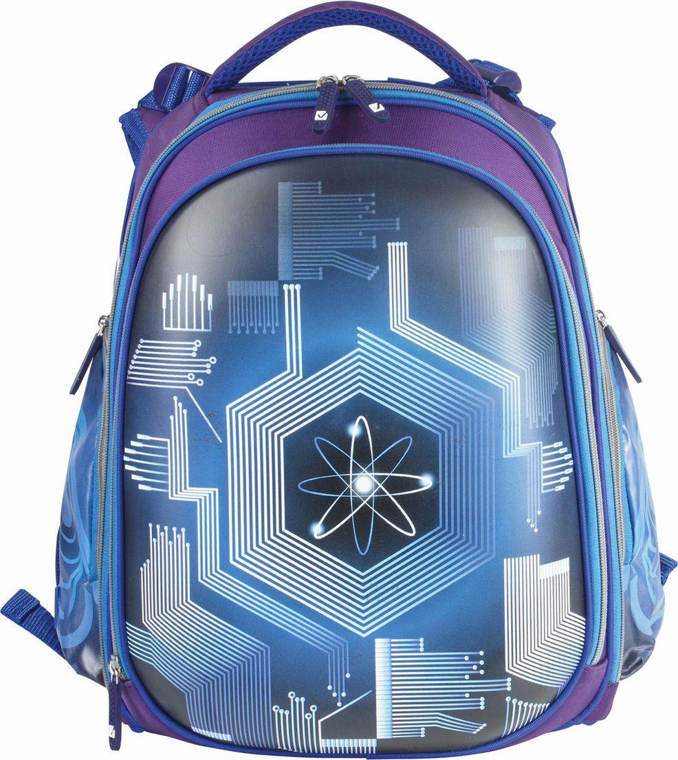 Brauberg Ранец школьный Атом цвет синий 226922