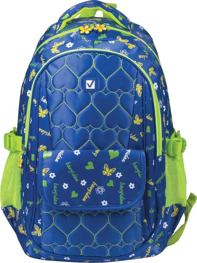 Brauberg Рюкзак Сердечки цвет синий 227073 brauberg brauberg рюкзак для старшеклассников и студентов бронкс синий желтый