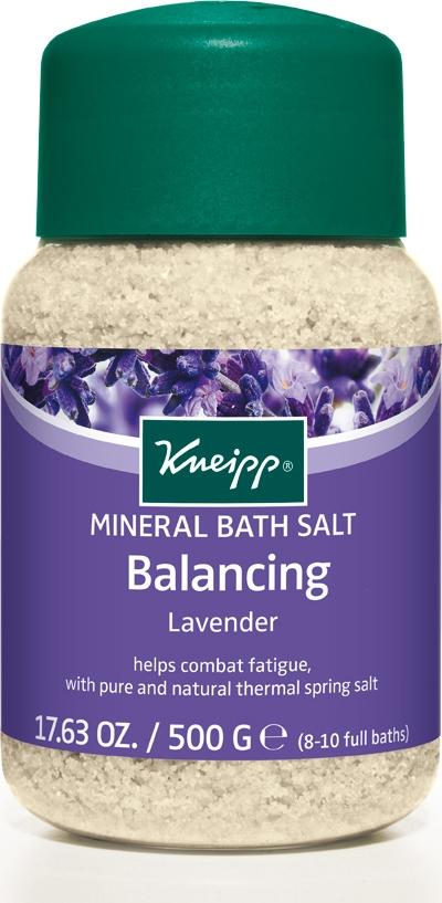 Kneipp Соль для ванн с Лавандой, 500 г фараоновы ванны соль для ванн с эфирным маслом эвкалипт эмоциональный комфорт 0 5 кг
