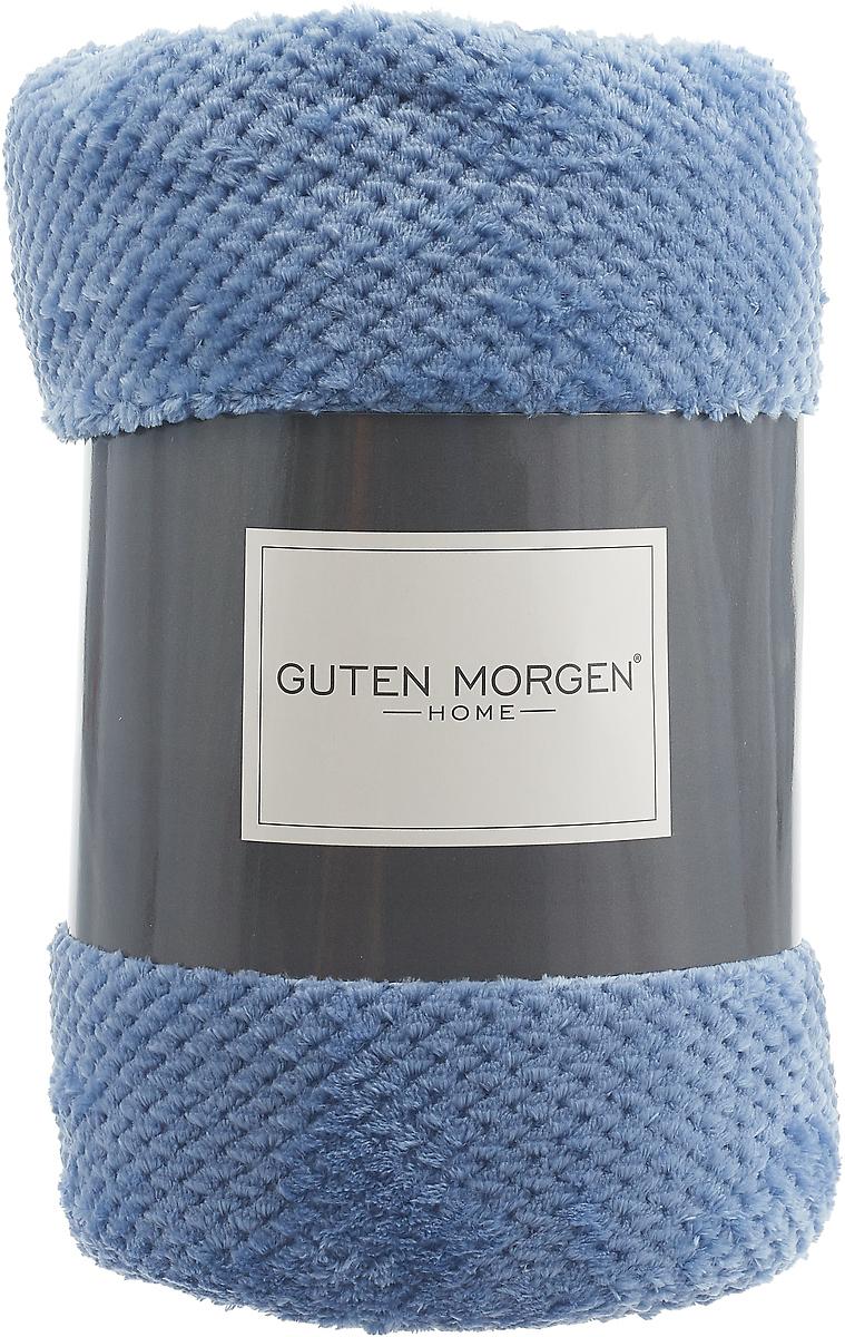 """Плед-покрывало Guten Morgen """"Ривьера"""", цвет: синий, 200 х 220 см"""