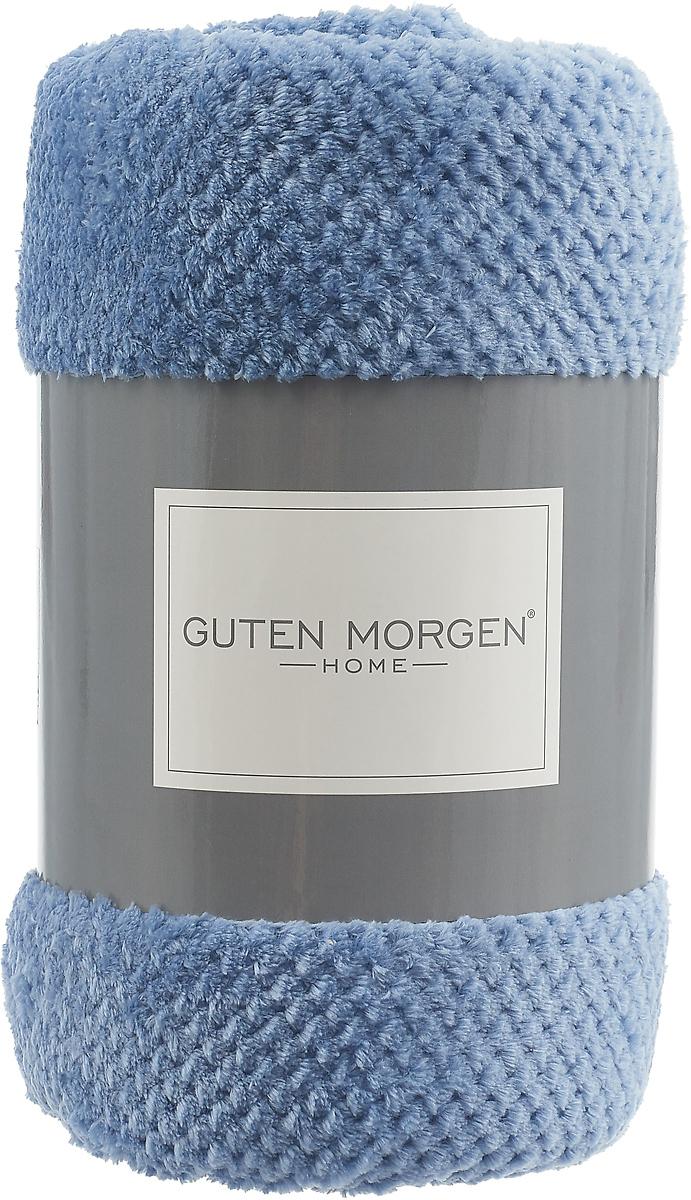 """Фото Плед-покрывало Guten Morgen """"Ривьера"""", цвет: синий, 150 х 200 см"""