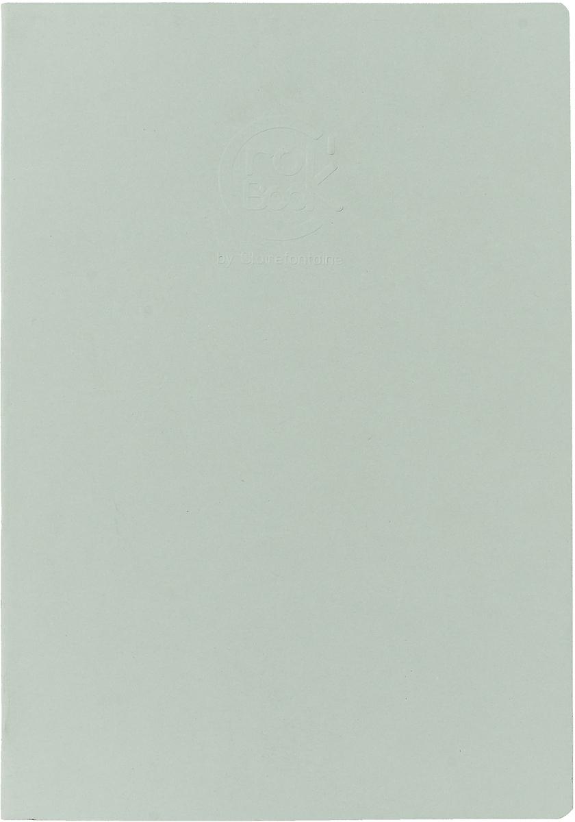 Блокнот Clairefontaine Crok' Book, формат A4, 24 листа цвет: светло-серый офис блокнот ultimate basics цвет фиолетовый 64 листа формат а4