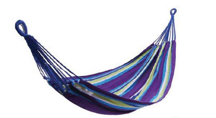 Гамак KingCamp Canvas Hammock, цвет: фиолетовый, желтый, 200 х 150 см гамак для ног эврика цвет оранжевый 62 х 17 х 2 см