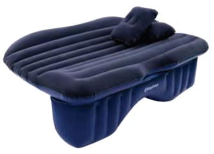 Матрас надувной KingCamp Backseat Air Bed, цвет: темно-синий, 141 х 90 см кровать надувная kingcamp pumpair bed double km3607 синий бежевый 188 х 137 х 22 см