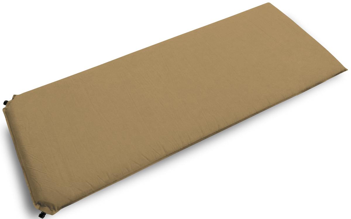 "Коврик самонадувающийся Talberg ""Best Mat"", цвет: бежевый, черный, 190 х 77 см"