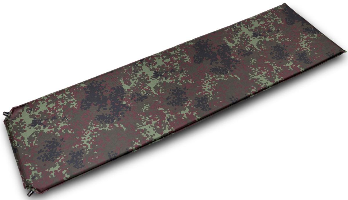 """Коврик самонадувающийся Talberg """"Forest Best Mat"""", цвет: зеленый, коричневый, черный, 190 х 77 см"""