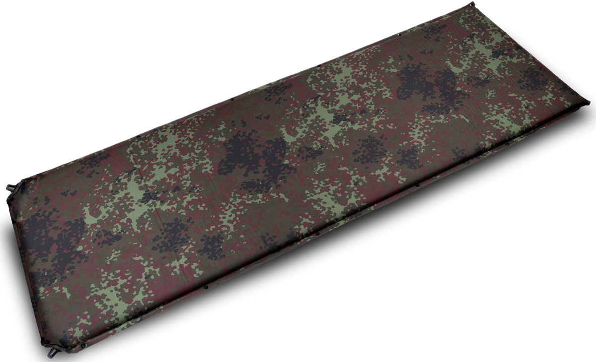 """Коврик самонадувающийся Talberg """"Forest Big Mat"""", цвет: зеленый, коричневый, черный, 190 х 66 см"""