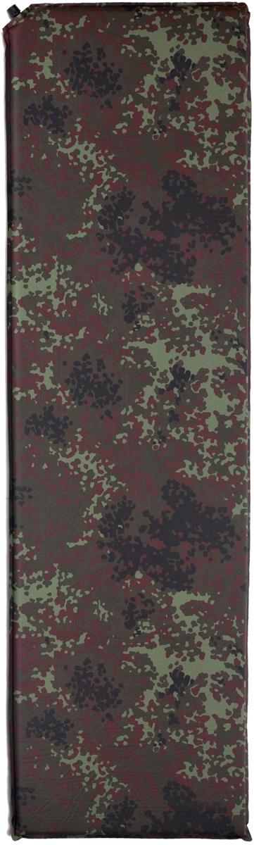 """Коврик самонадувающийся Talberg """"Forest Light Mat"""", цвет: зеленый, коричневый, черный, 183 х 51 см"""
