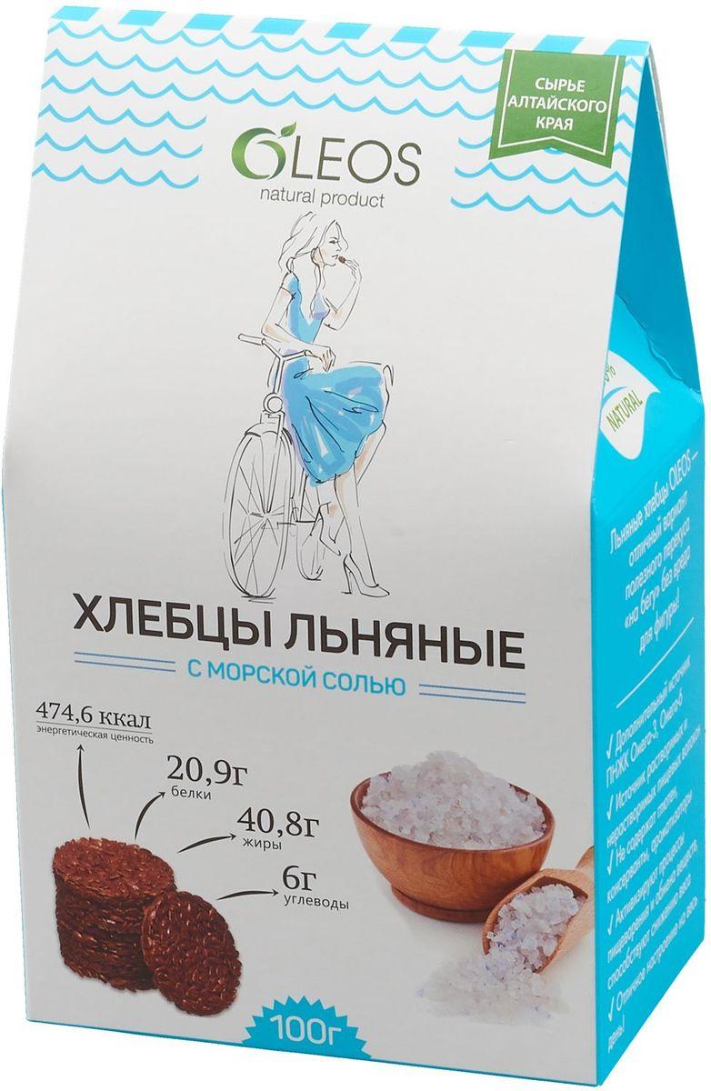Oleosхлебцы льняные с морской солью, 100 г Oleos
