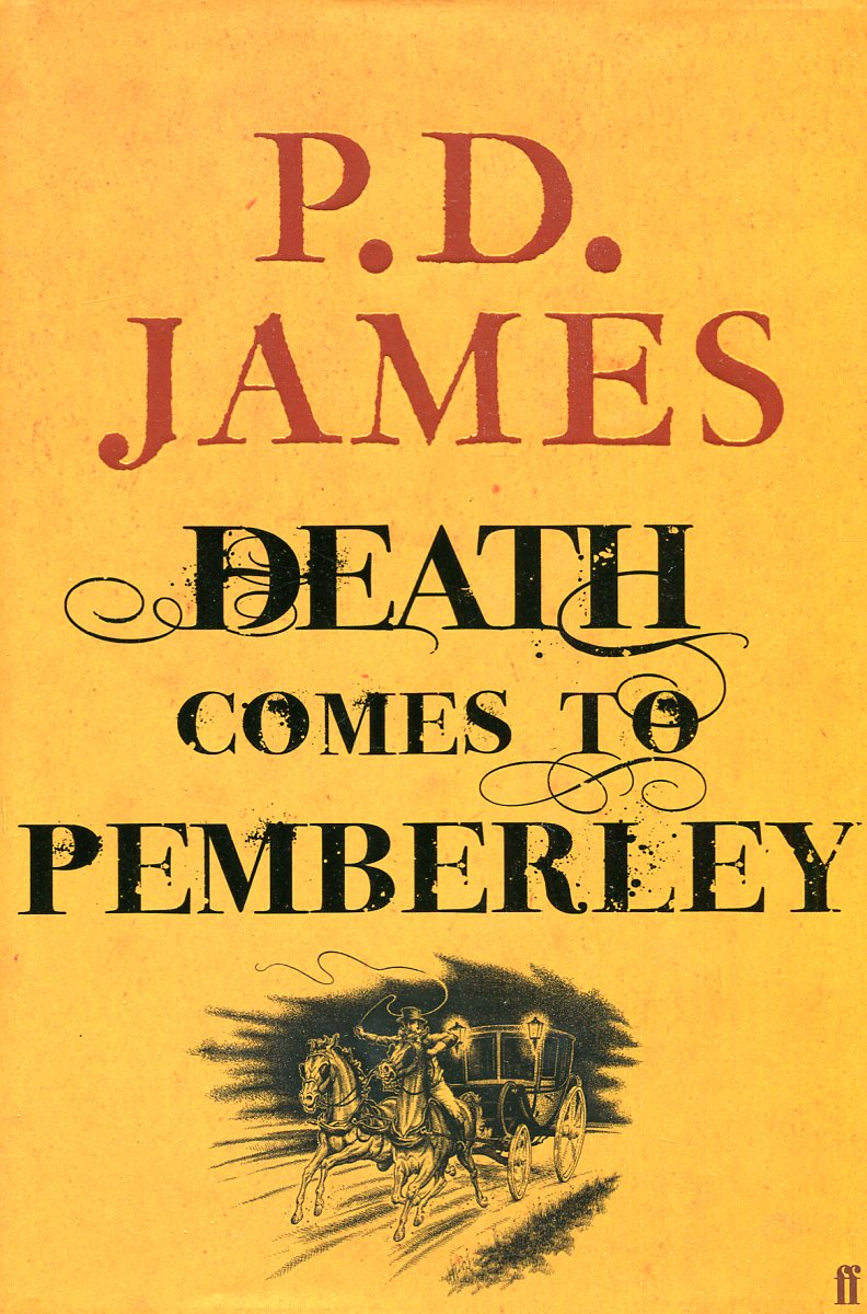 P.D. James Death comes to Pemberley vertical stripe pattern fringed edge scarf