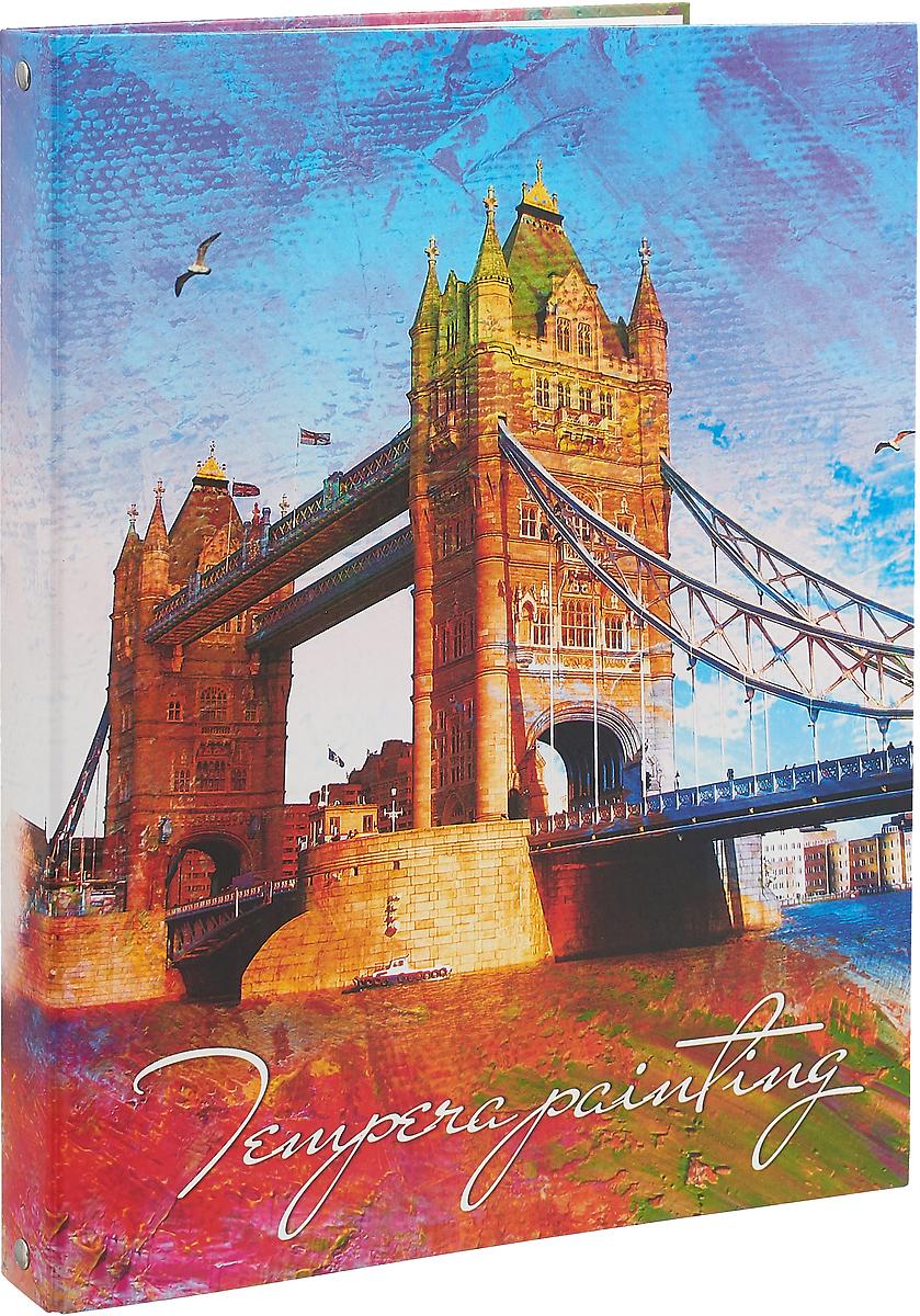Апплика Тетрадь со сменным блоком Лондонский мост 100 листов в клетку тетрадь на кольцах таксы со сменным блоком