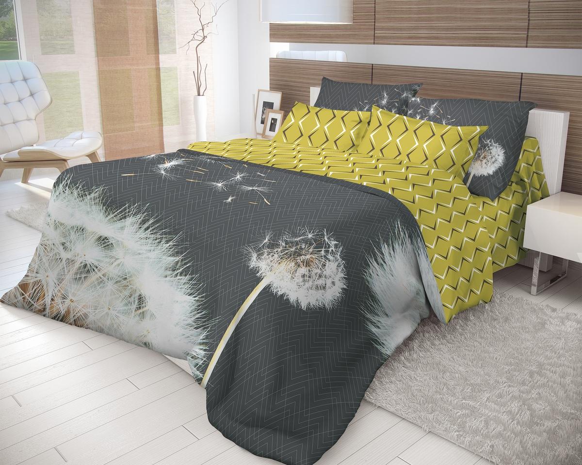 Комплект белья Волшебная ночь Dandelion, 2-спальный с простыней на резинке, наволочки 70х70, цвет: черный, желтый, белый. 710608 paul mitchell гель сильной фиксации для волос super clean sculpting gel 200 мл
