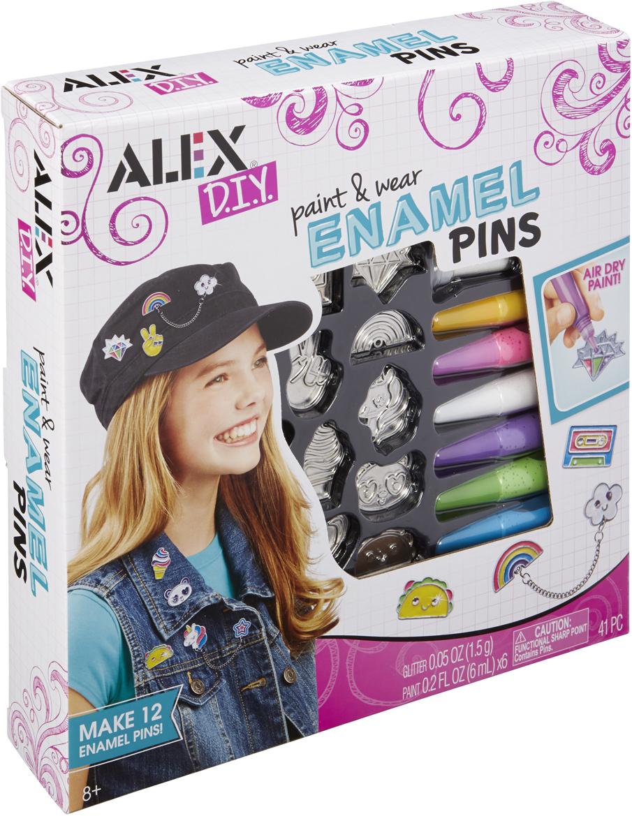 Alex Набор для изготовления игрушек Разноцветные значки набор для вязания alex разноцветные шарф и шапочка от 7 лет 182t
