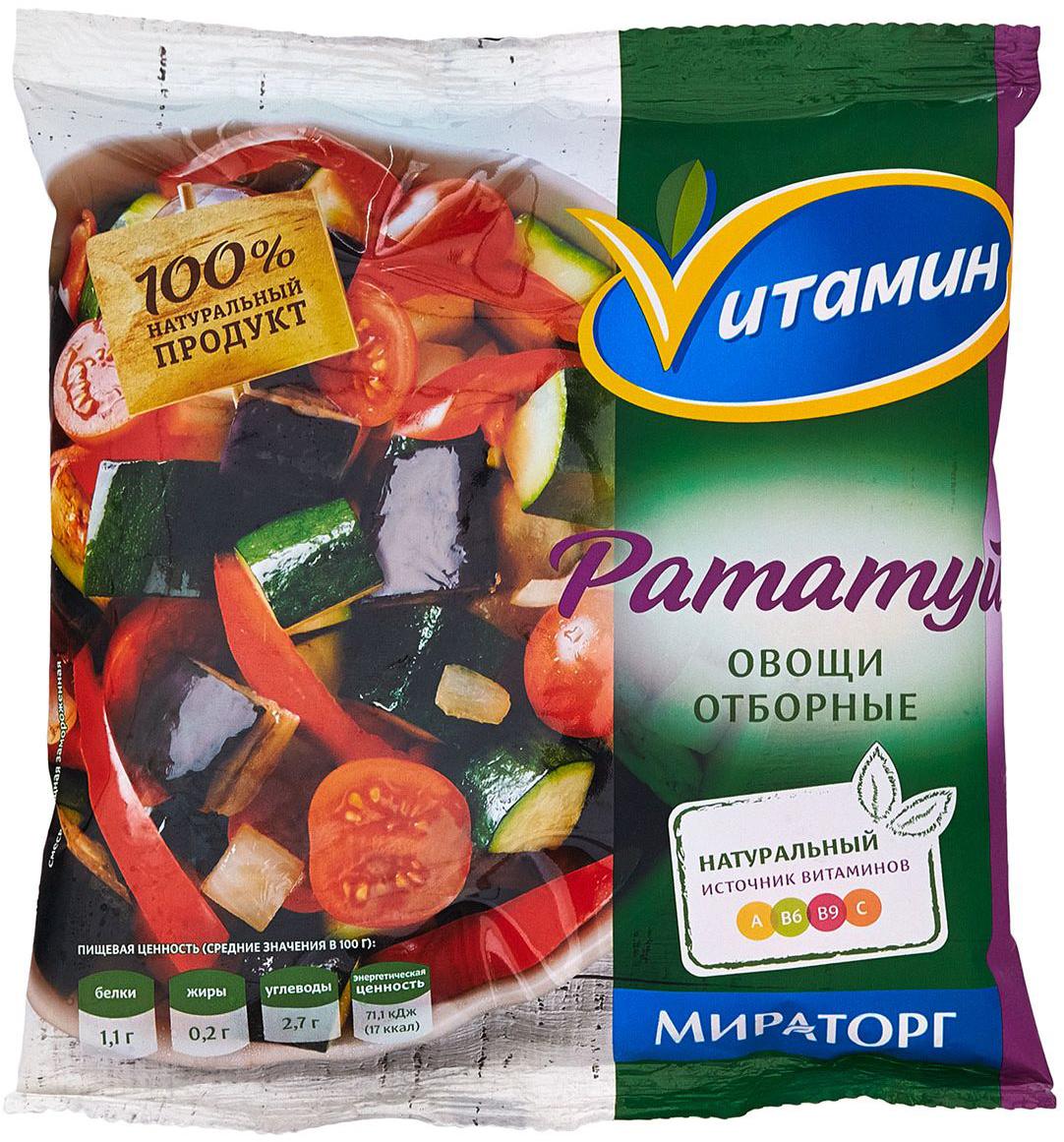 Смесь Рататуй Vитамин, 400 г натюр малышам просто вкусно полезно