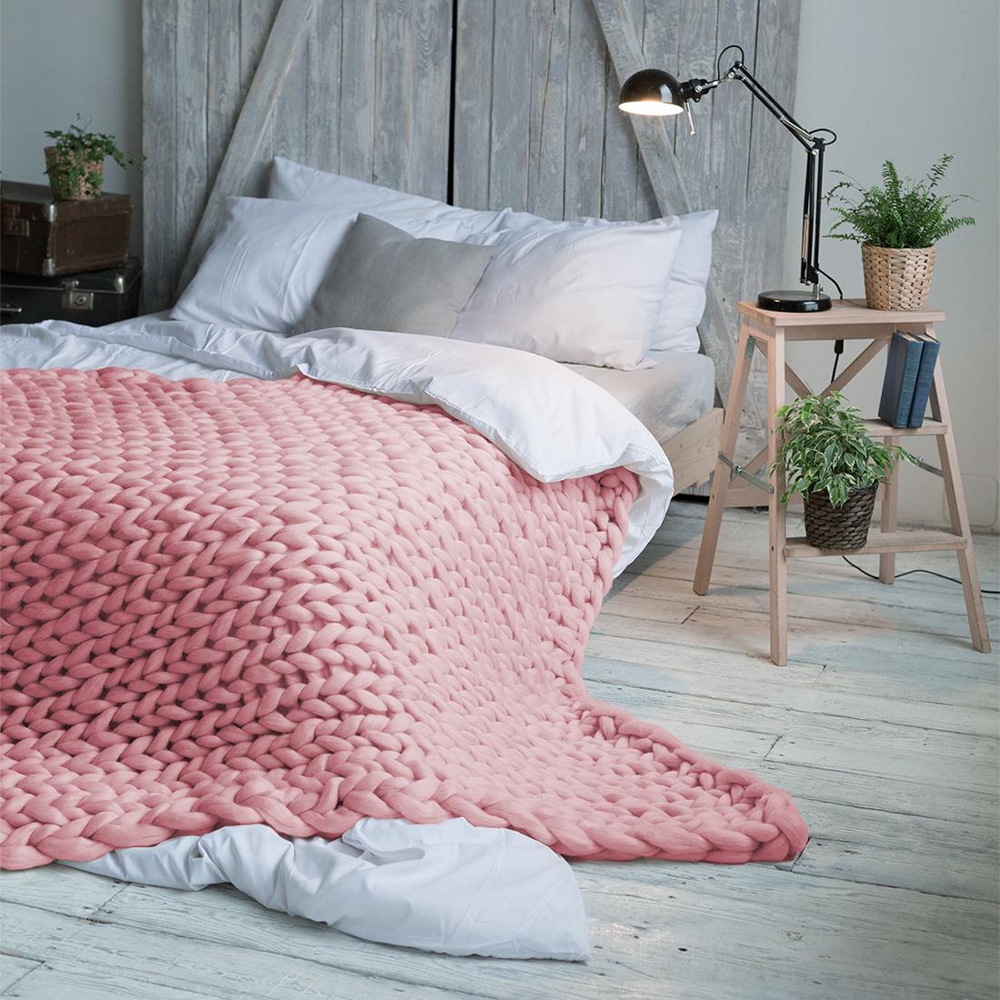 Плед Dome Hygge, цвет: светло-розовый, 140 см х 200 см