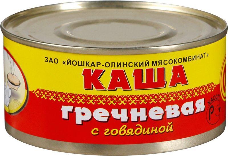 Йошкар-Олинская Тушенка каша гречневая с говядиной, 325 г рузком каша рисовая с говядиной 325 г