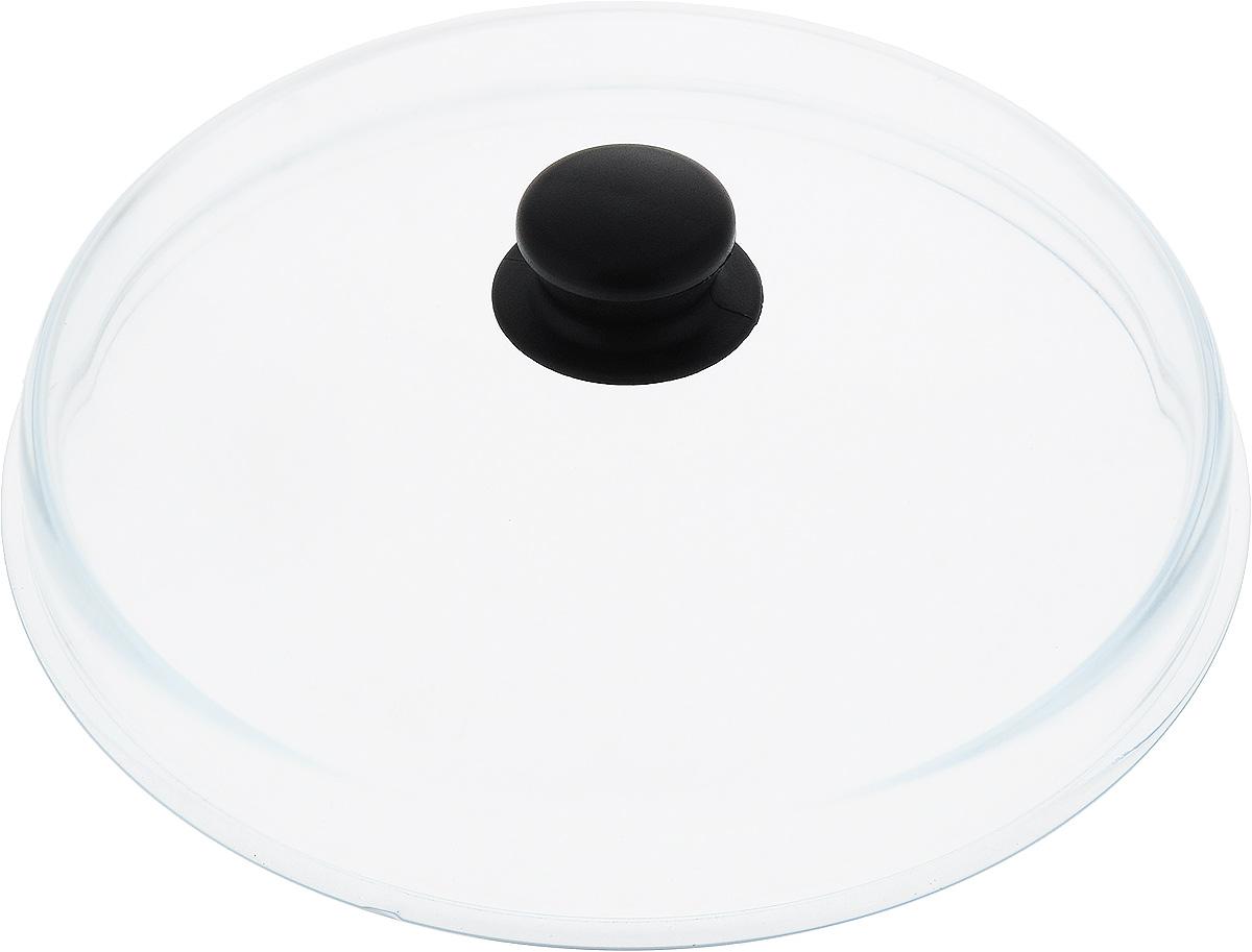 Крышка высокая VGP. Диаметр 28 см. 238238Крышка с пластиковой ручкой изготовлена из термостойкого и экологически чистого боросиликатного стекла, устойчивого к влиянию высокой температуры. Ручка крышки имеет удобную форму, она выполнена из качественного термостойкого пластика, который не нагревается в процессе приготовления пищи и не обжигает руки. Крышка предназначается для сотейников, кастрюль и сковород, диаметр которых равен диаметру крышки. Перед первым использованием вымойте крышку теплой водой с моющими средствами. Не ставьте посуду, накрытую крышкой с пластмассовой ручкой, в духовку или микроволновую печь. Подходит для мытья в посудомоечной машине.