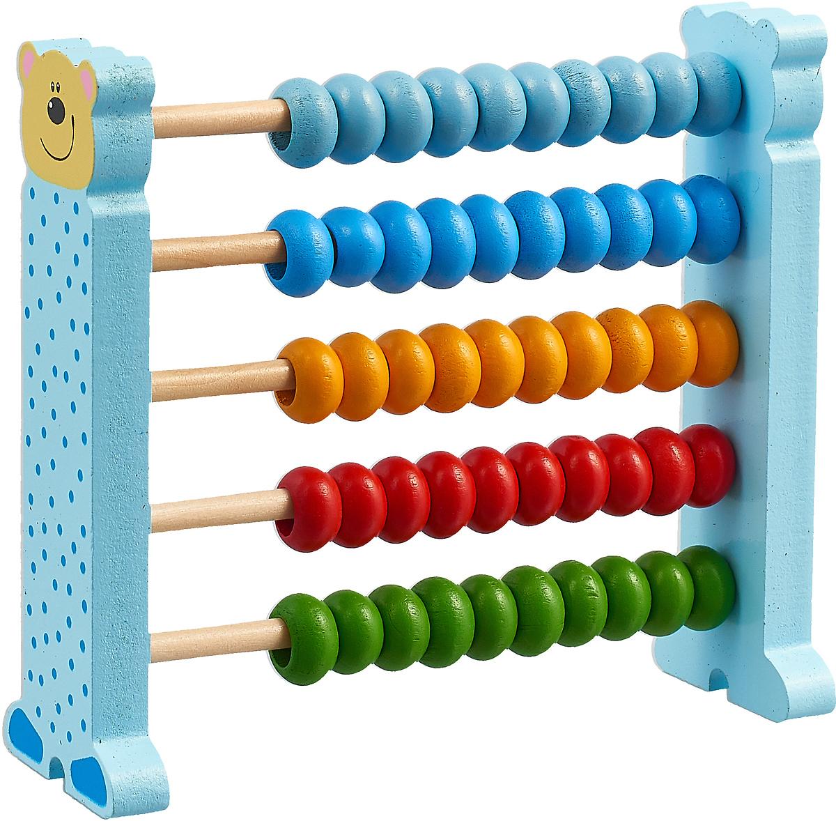 Bondibon Деревянная модель Счеты цвет голубой каталки bondibon игрушка деревянная каталка с ручкой пингвин bondibon