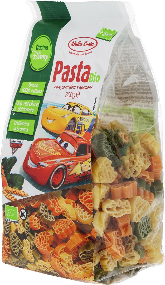Dalla Costa Disney Фигурные Тачки БИО со шпинатом и томатом, 300 г
