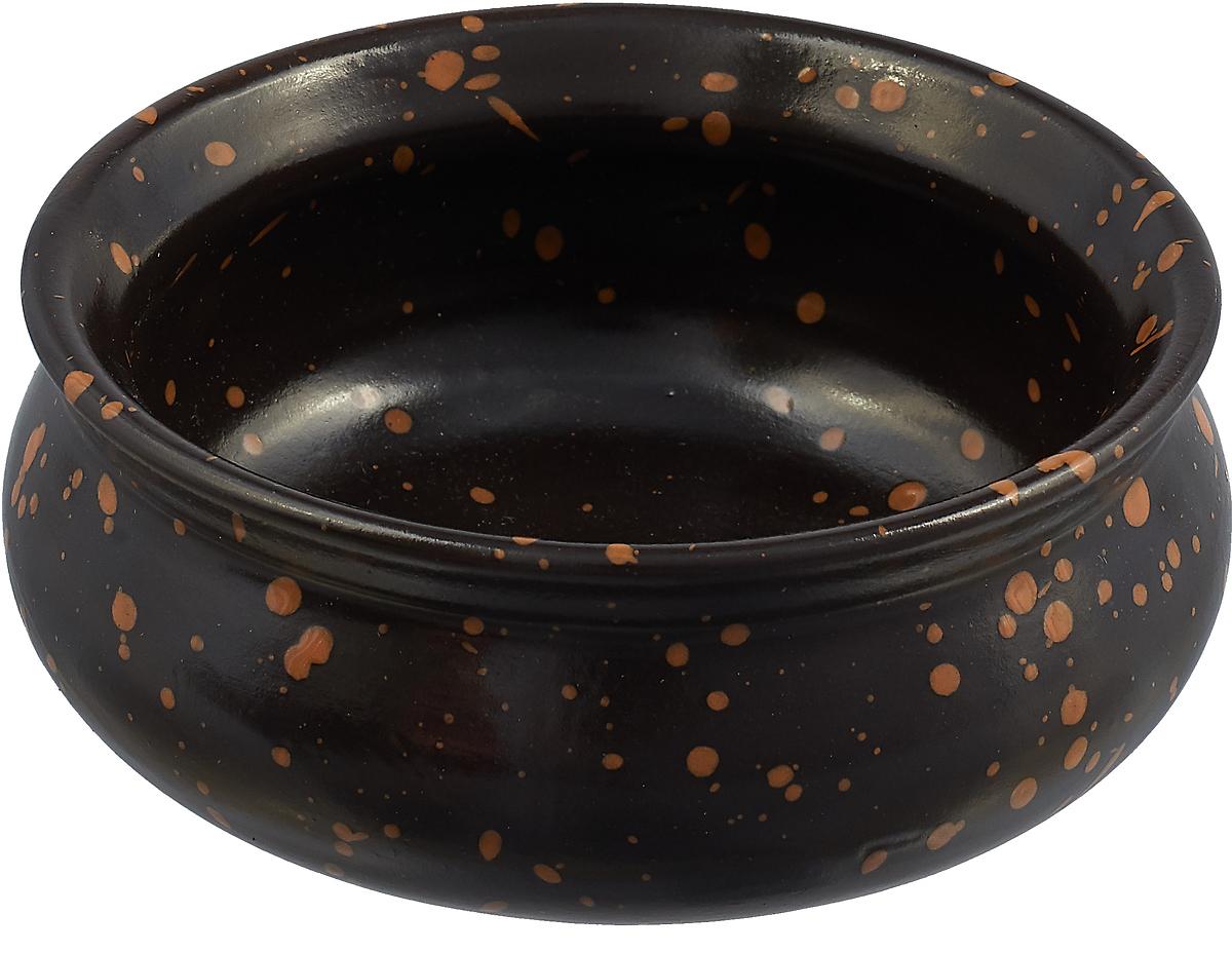 Тарелка Борисовская керамика Скифская, цвет: черный, 300 мл набор тарелок борисовская керамика скифская цвет серый хаки 4 шт