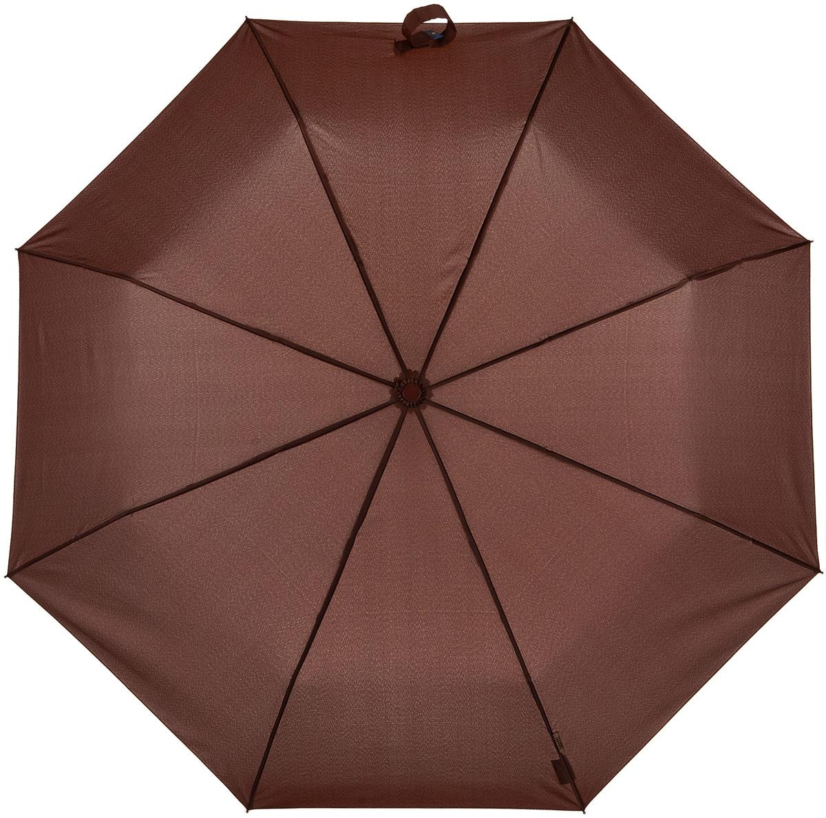 где купить Bisetti 3264-1 Зонт полный автомат, 3 сложения, мужской, цвет: светло-коричневый дешево