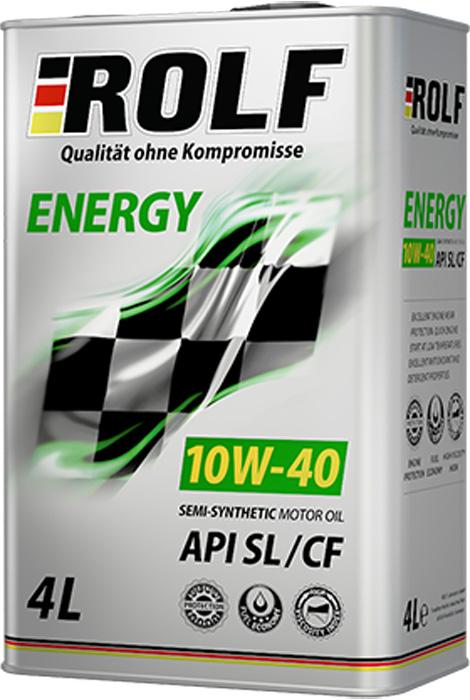 Масло моторное ROLF Energy SAE 10W-40, цвет: коричневый, 4 л масло моторное rolf dynamic sae 10w 40 api sj cf 4 л