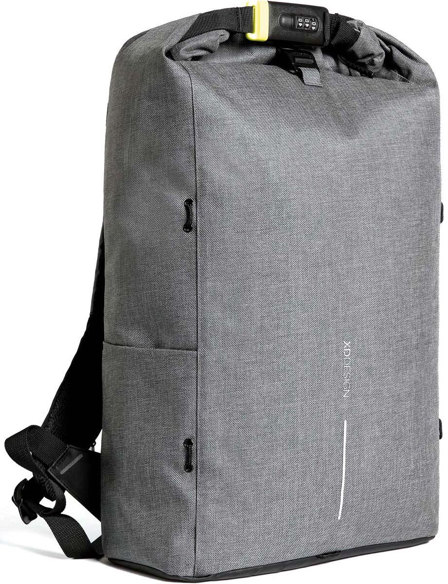 Рюкзак городской XD Design Bobby Urban Lite, для ноутбука до 15,6, цвет: серый, 27 л рюкзак для ноутбука до 15 xd design bobby цвет серый р705 542