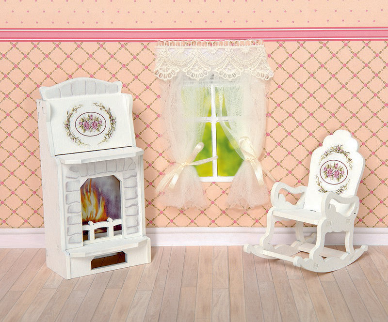 "Набор мебели для кукол ЯиГрушка ""Камин и кресло-качалка"", 59409, 2 предмета"