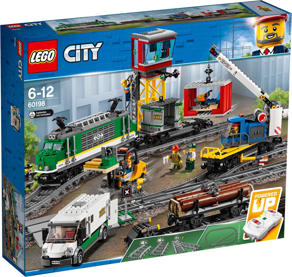 цена на LEGO City Trains 60198 Товарный поезд Конструктор