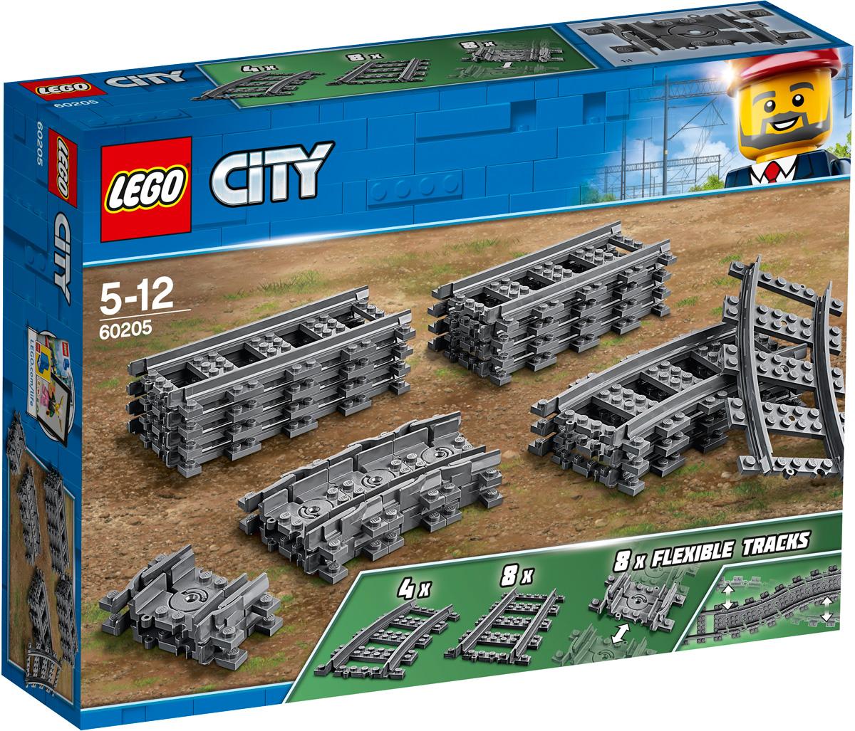 LEGO City Trains 60205 Рельсы Конструктор конструктор lego железнодорожный мост и рельсы 17 элементов
