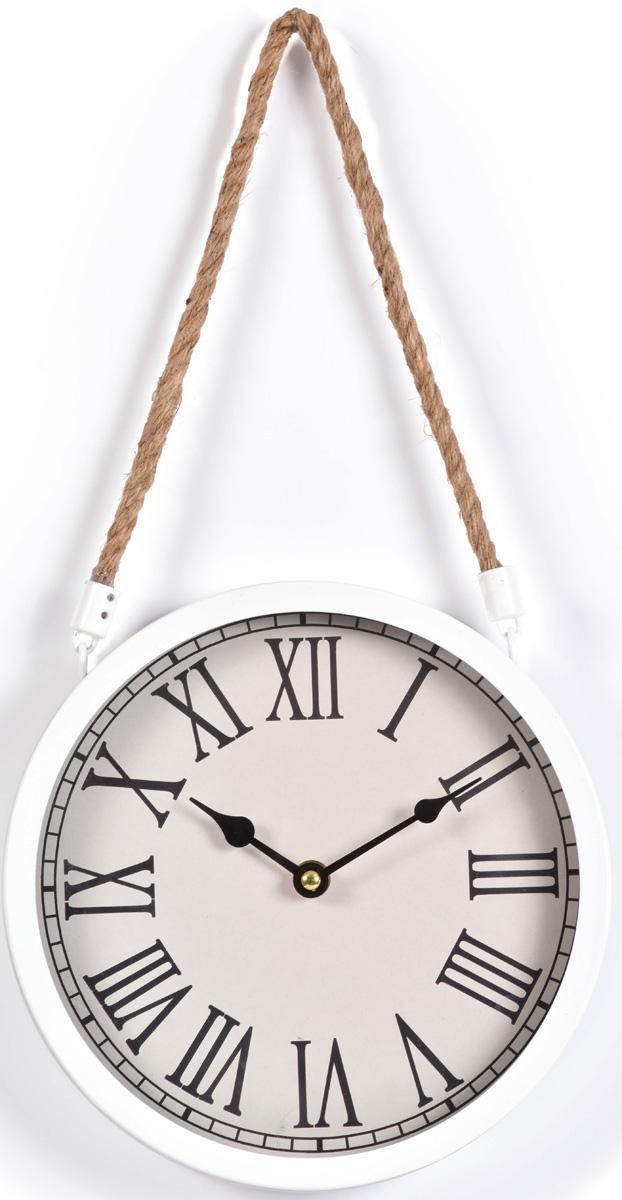 Часы настенные Innova, цвет: белый, диаметр 22 см. W08311Б0033271Металлические часы. Подвес - крафтовая веревка. Кварцевый механизм с плавным ходом. Батарейки в комплект не входят. Диаметр 22 см. Цвет белый. Рекомендуем!