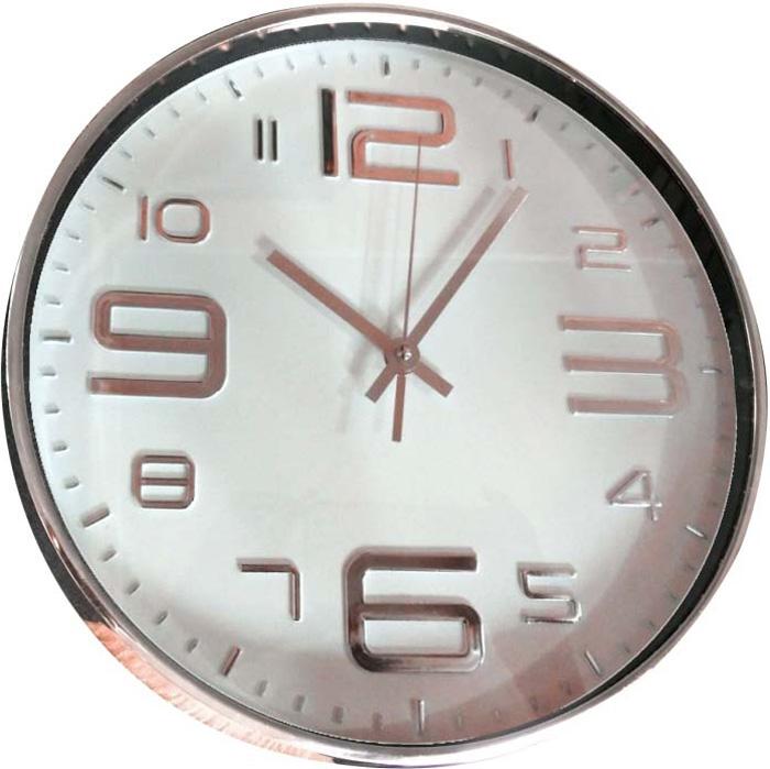 Часы настенные Innova, цвет: розовый, белый, диаметр 30 см. W09641 часы настенные innova w09656 цвет белый диаметр 35 см