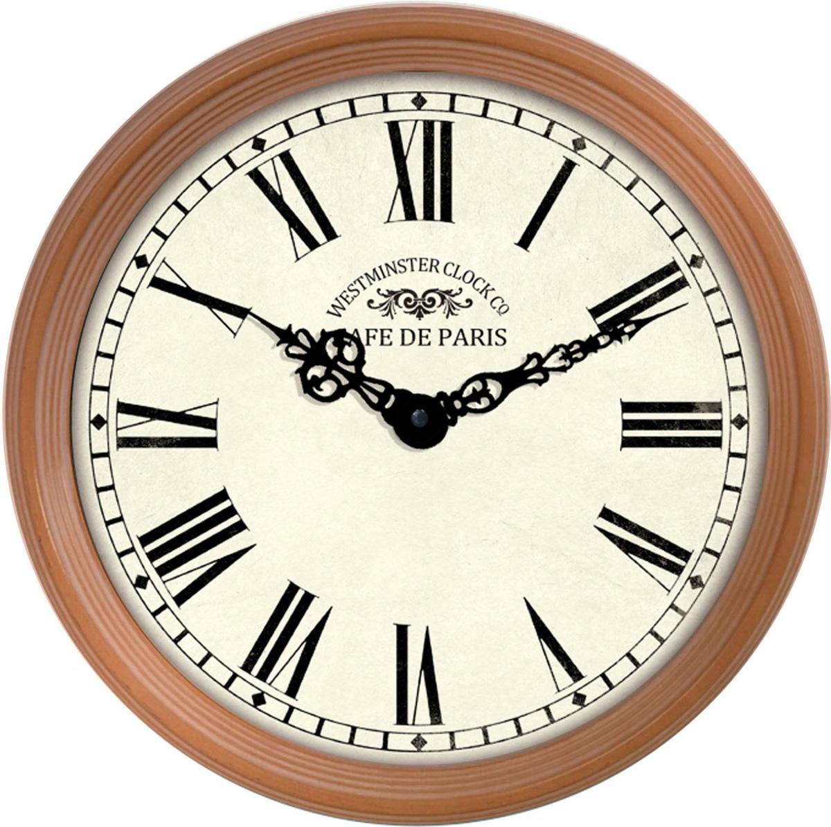 "Часы настенные ""Innova"", цвет: бронзовый, диаметр 38 см. W09645"