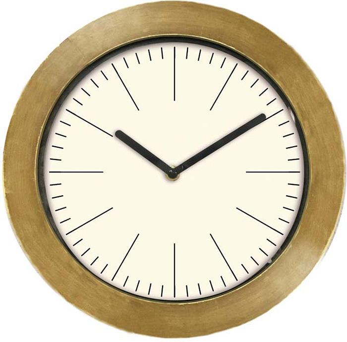 Часы настенные Innova, цвет: золотистый, диаметр 29 см. W09651 часы настенные innova w09656 цвет белый диаметр 35 см