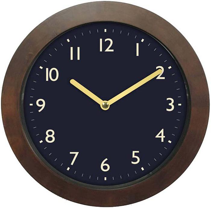 Часы настенные Innova, цвет: коричневый, синий, диаметр 29 см. W09652 часы настенные innova w09656 цвет белый диаметр 35 см
