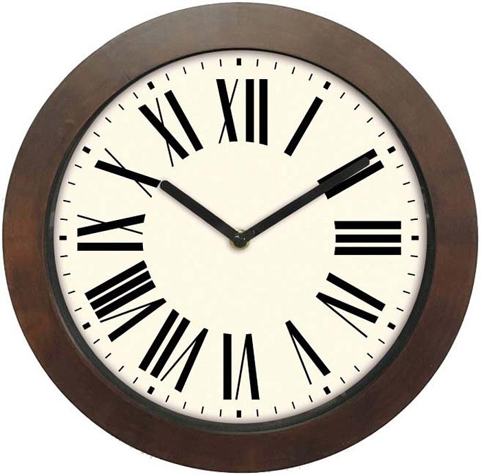 Часы настенные Innova, цвет: коричневый, диаметр 29 см. W09653 часы настенные innova w09656 цвет белый диаметр 35 см