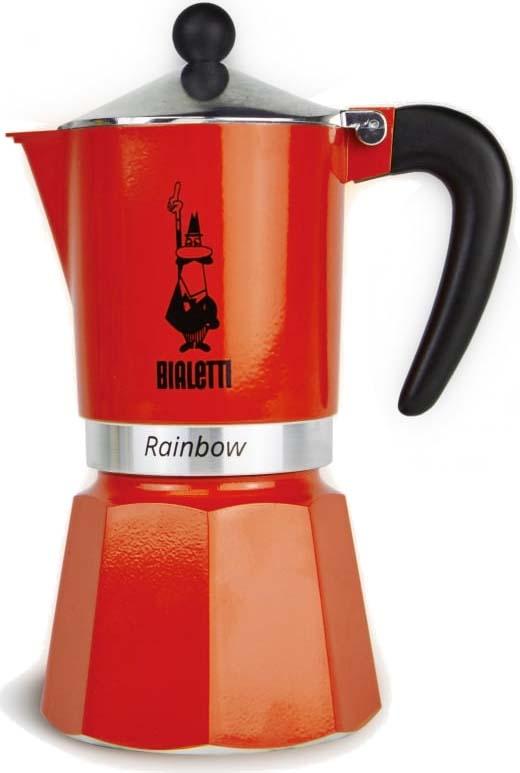 Кофеварка гейзерная Bialetti Rainbow, цвет: красный, на 6 чашек цена