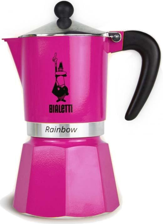 цена на Кофеварка гейзерная Bialetti Rainbow, цвет: фуксия, на 3 чашки