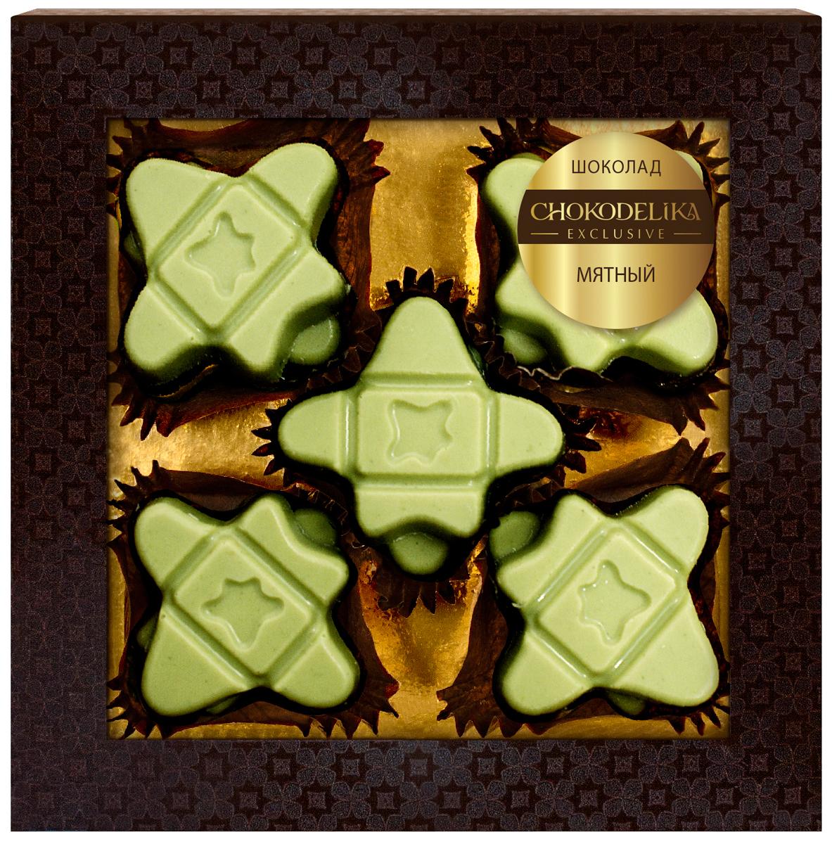Шоколад вкусовой Мятный Chokodelika, 60 г4610007646406Chokodelika - это больше, чем шоколадный бренд. Это целая философия яркой, вкусной жизни, новых впечатлений и креативного восприятия окружающего мира.Эксклюзивные сладости Chokodelika — это сочетание отборных фруктов, ягод, орехов и натуральных пряностей с премиальным бельгийским шоколадом ручной работы.Мятный шоколад не оставит равнодушным ни одного настоящего ценителя изысканных сладостей.