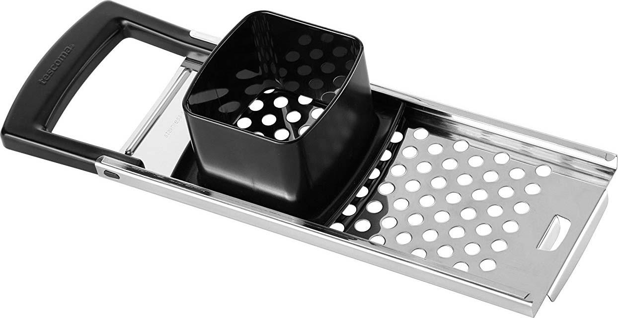 Терка для клецок Tescoma Grandchef428690Терка для клецок Tescoma Grandchef отлично подходит для легкой и быстрой готовки клецок. Изготовлено из высококачественной нержавеющей стали и прочной пластмассы. Можно мыть в посудомоечной машине.
