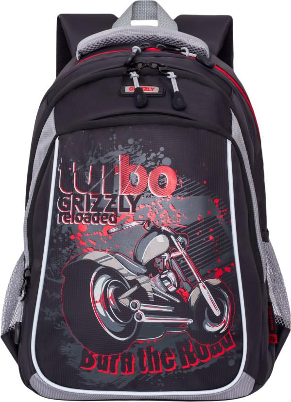 Grizzly Рюкзак школьный цвет черный серый RB-860-3/2